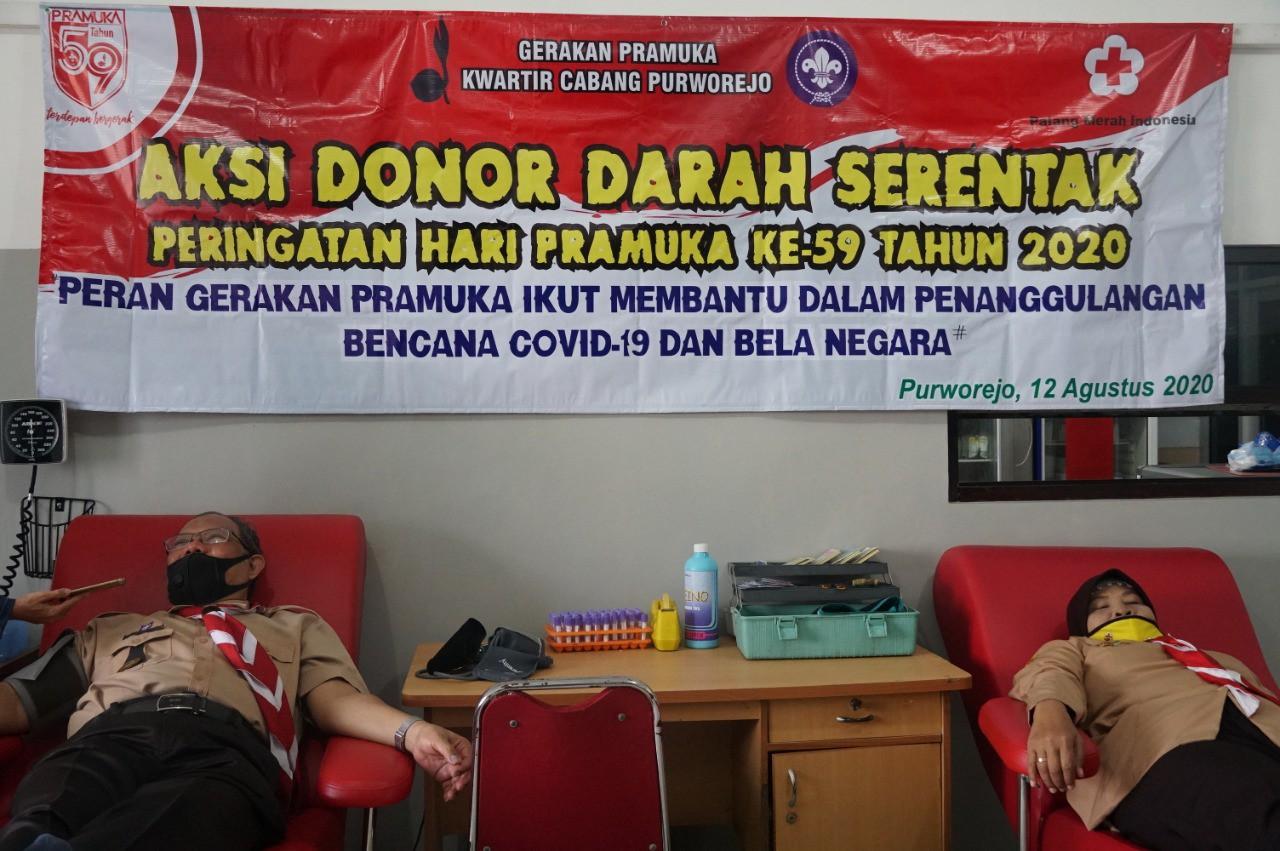 Donor Darah Awali Peringatan HUT Pramuka ke-59